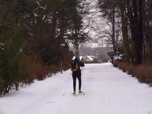 Skifahrer im Hamburger Stadtpark