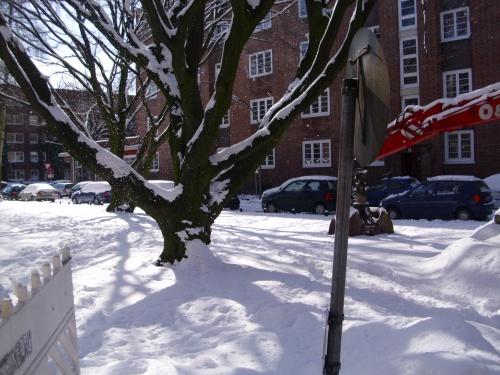 Scnee in Hamburg im März 2010-3