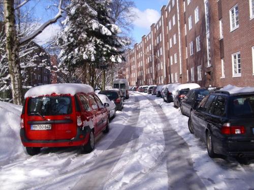 Scnee in Hamburg im März 2010-5