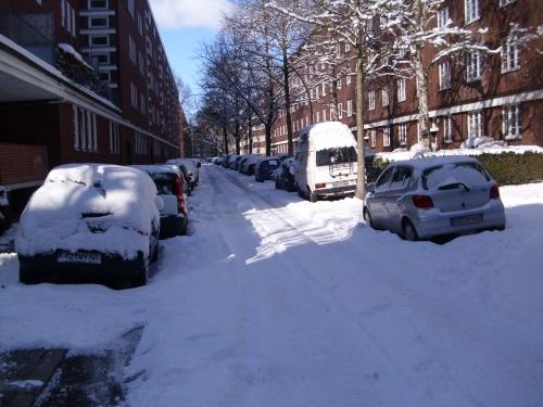 Scnee in Hamburg im März 2010-7