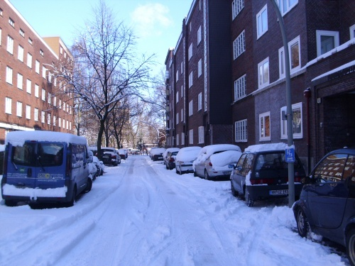 Scnee in Hamburg im März 2010-9