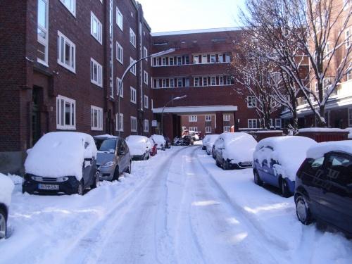 Scnee in Hamburg im März 2010-10