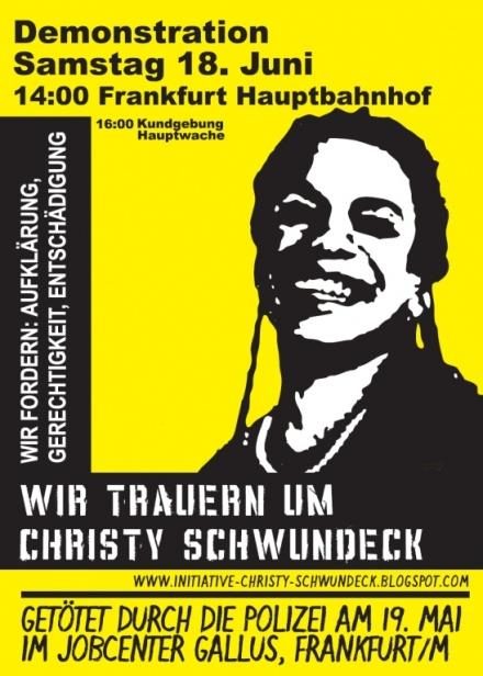 Tod im Jobcenter - Demo Plakat